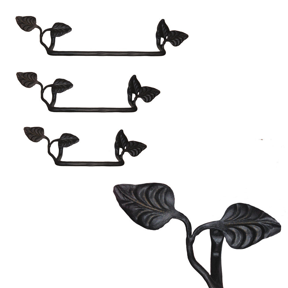 Calico Wrought Iron Leaf Towel Bars
