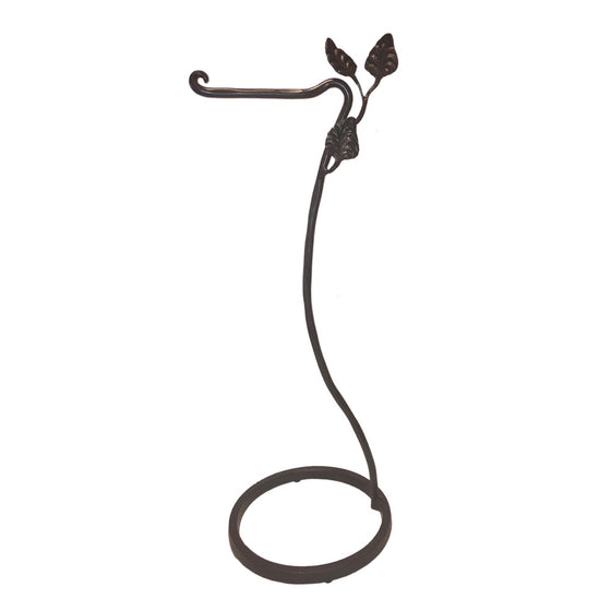 Calico Wrought Iron Leaf Toilet Paper Holder Floor Standing