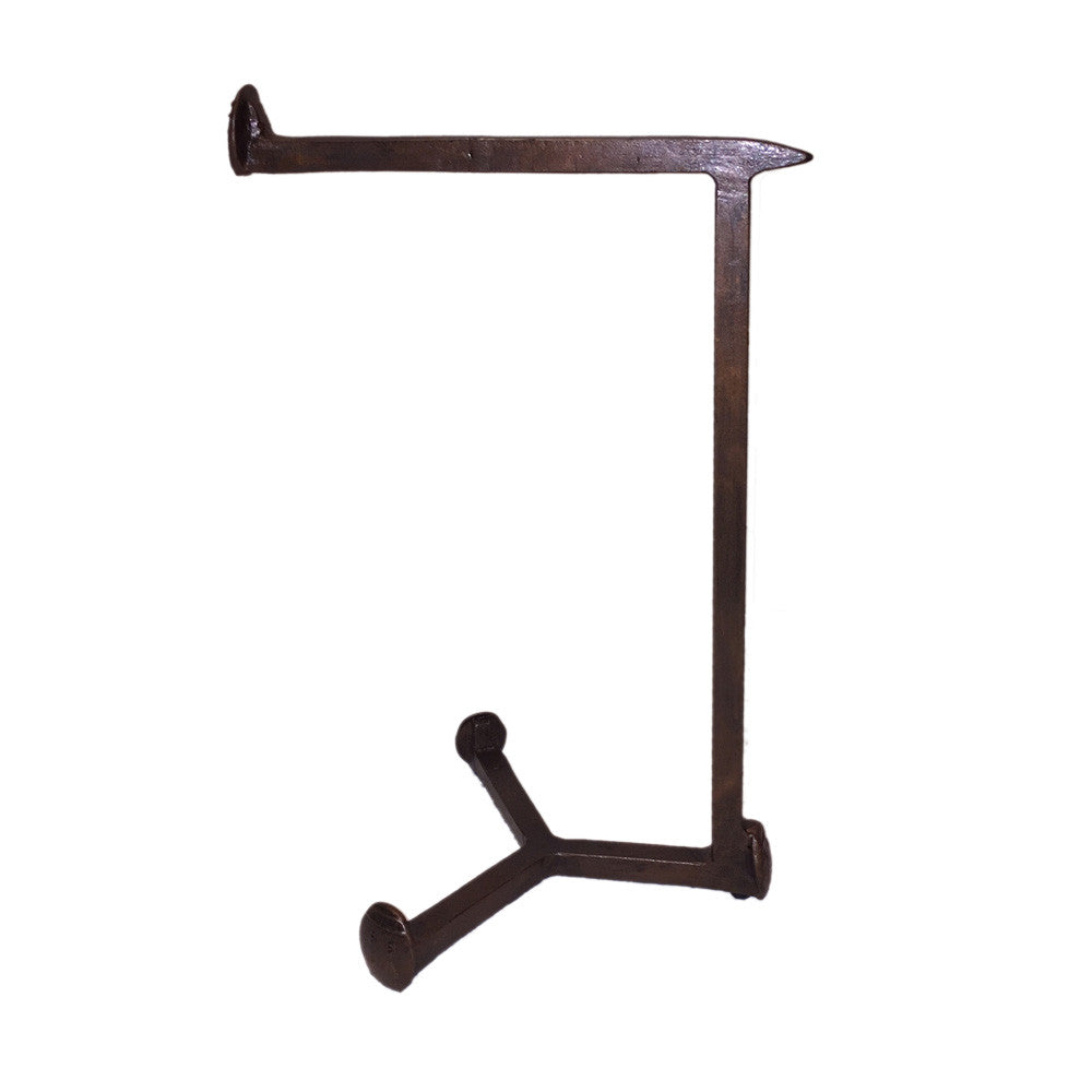 Cobre Railroad Spike Towel Stand, Countertop