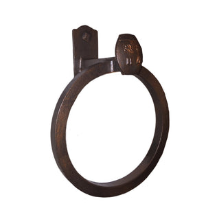 Cobre Railroad Spike Towel Ring Closed