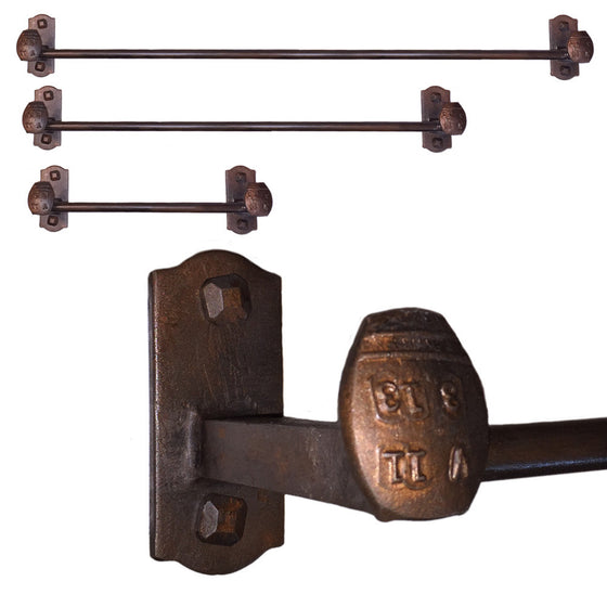 Cobre Railroad Spike Towel Bars