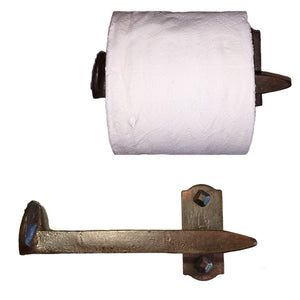 Cobre Railroad Spike Toilet Paper Holder Left