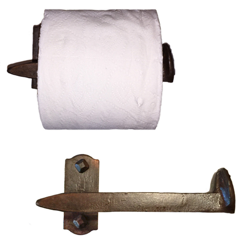Cobre Railroad Spike Toilet Paper Holder Right High