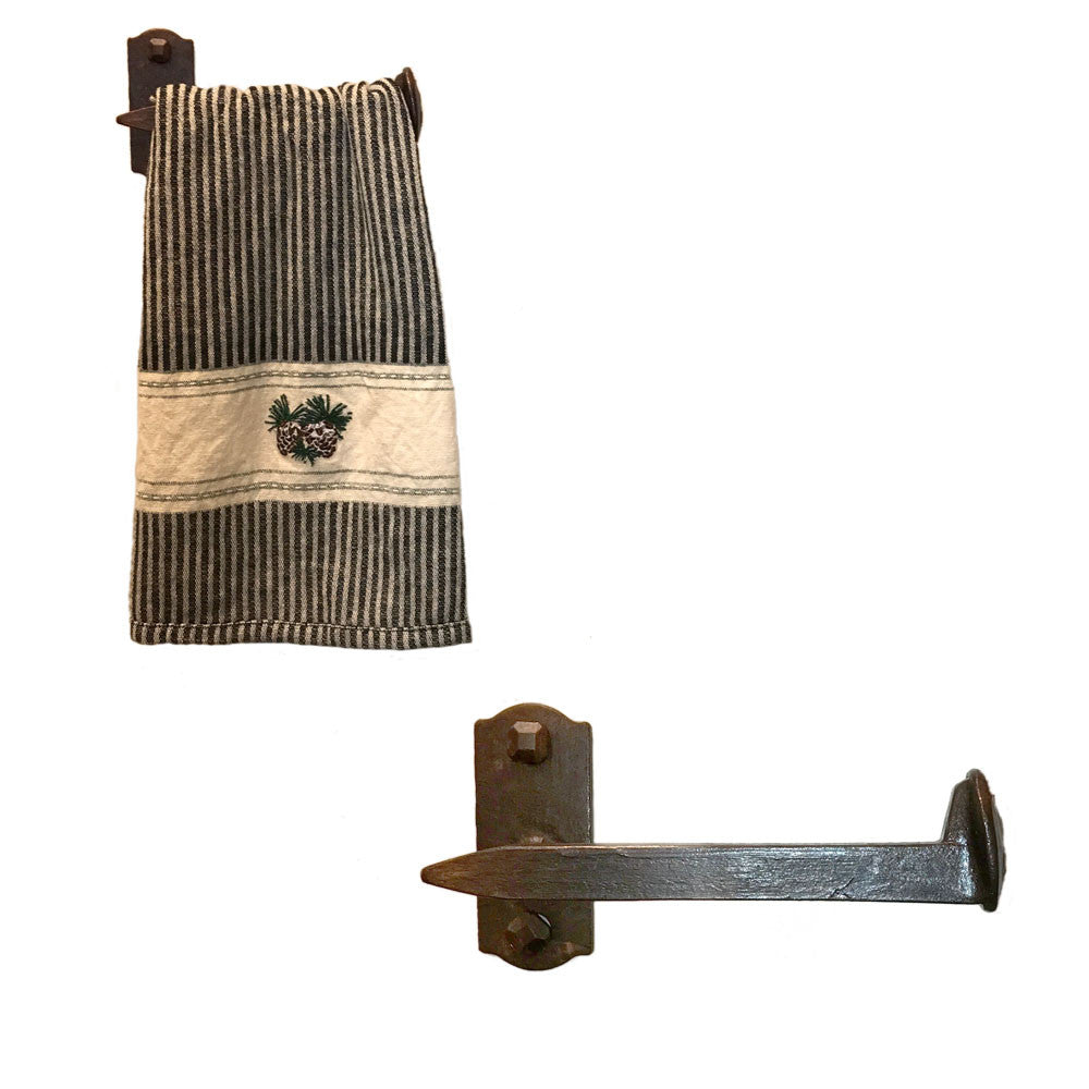 Cobre Railroad Spike Towel Bar Short Right