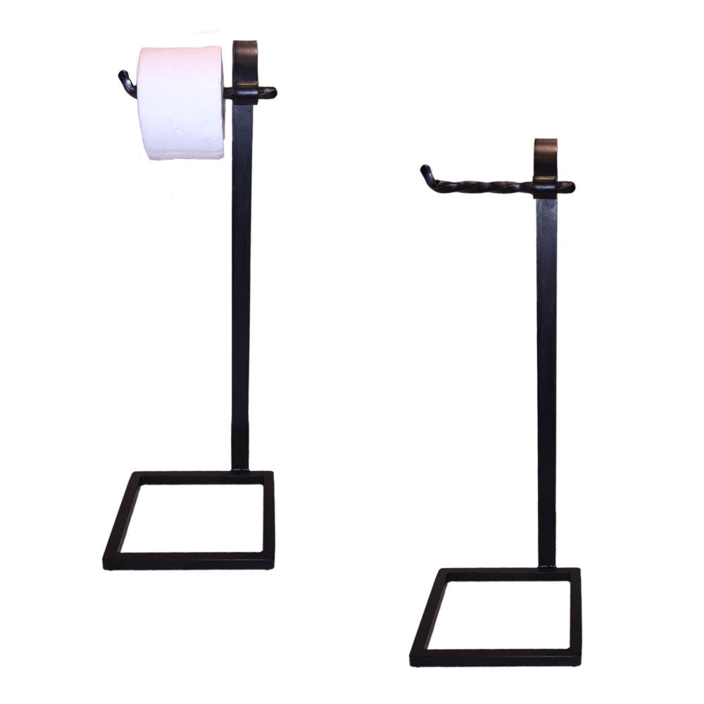 Jerome Twisted Iron Toilet Paper Holder Floor Standing