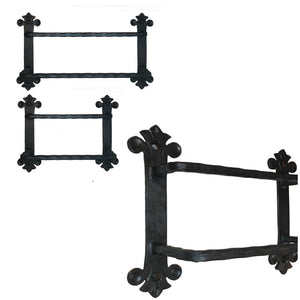 Eagle Mountain Wrought Iron Double Towel Bars