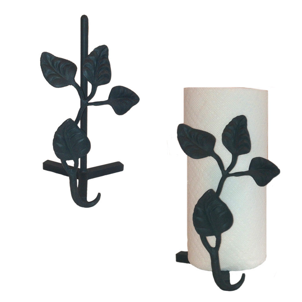 Calico Wrought Iron Leaf Paper Towel Holder Countertop