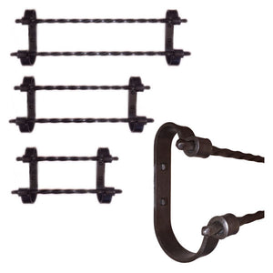 Jerome Twisted Iron Double Towel Bars