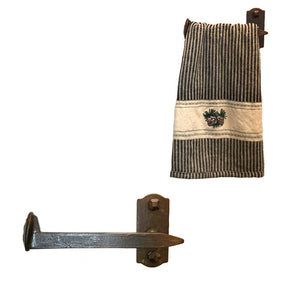Cobre Railroad Spike Towel Bar Short Left