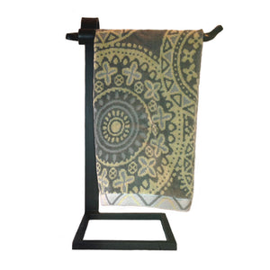 Jerome Twisted Wrought Iron Countertop Towel Stand Right
