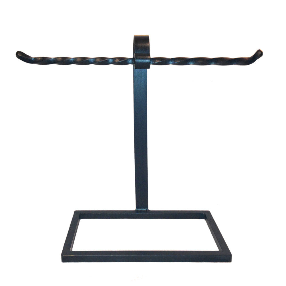 Jerome Twisted Iron Countertop Towel Stand Double