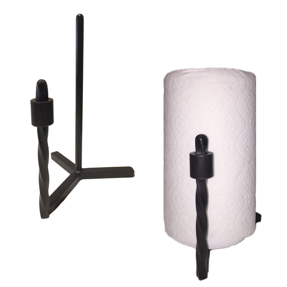 Jerome Twisted Iron Paper Towel Holder Countertop