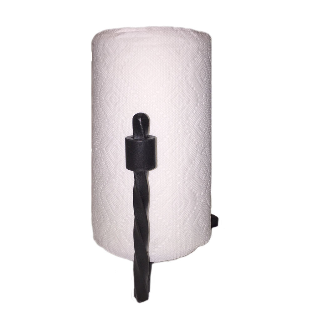 Jerome Twisted Wrought Iron Paper Towel Holder Countertop