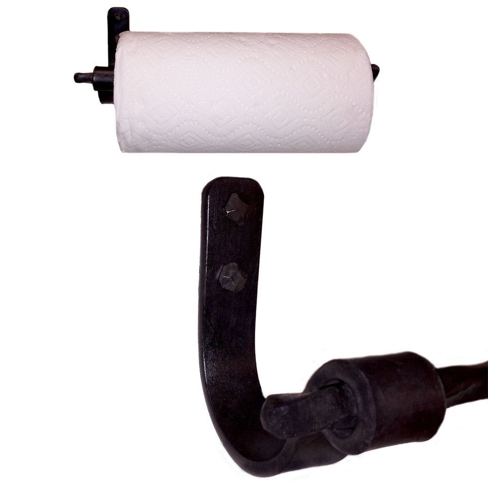 Jerome Twisted Iron Paper Towel Holder Wall Mount