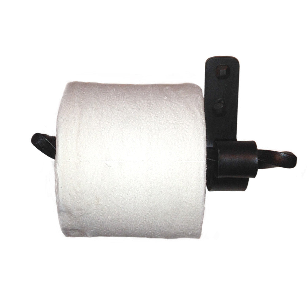 Jerome Twisted Wrought Iron Toilet Paper Holder Left
