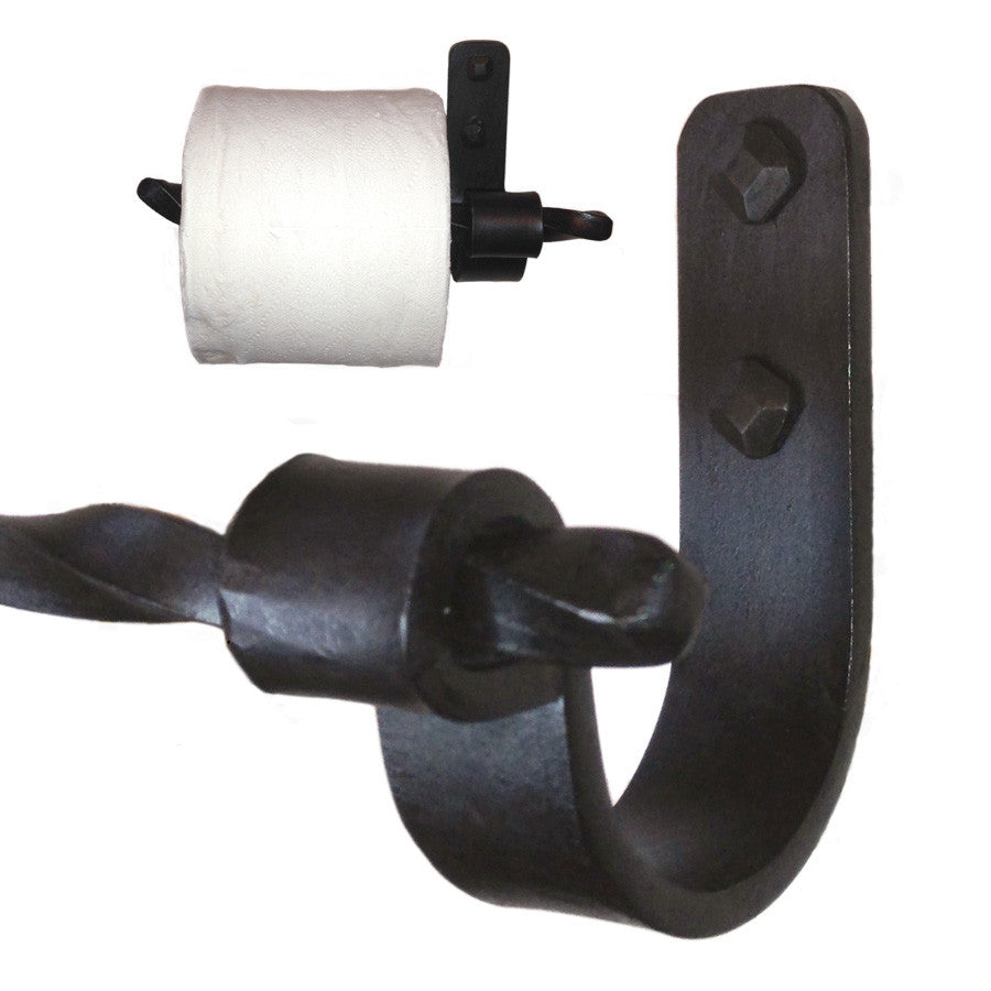 Jerome Twisted Iron Toilet Paper Holder Left