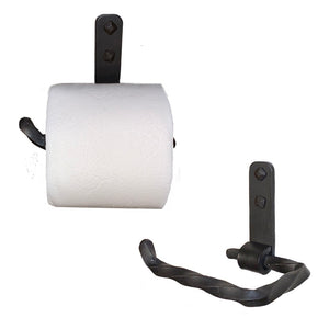Jerome Twisted Wrought Iron Toilet Paper Holder Petite Left