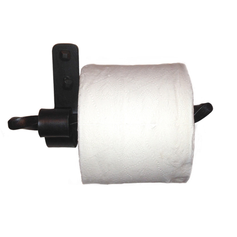 Jerome Twisted Wrought Iron Toilet Paper Holder Right
