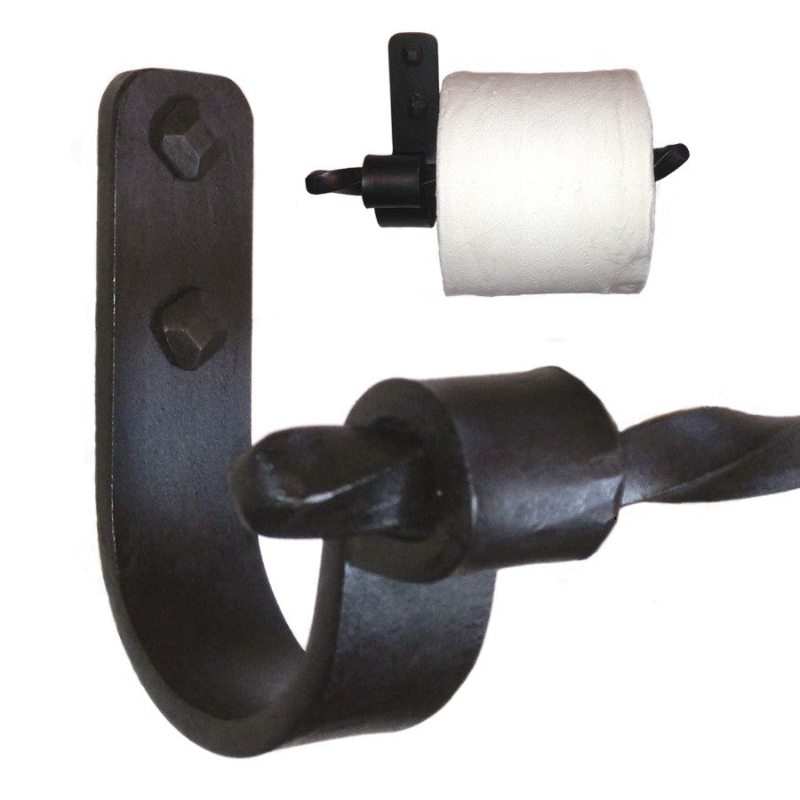 Jerome Twisted Iron Toilet Paper Holder Right