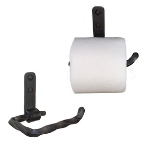 Jerome Twisted Wrought Iron Toilet Paper Holder Petite Right