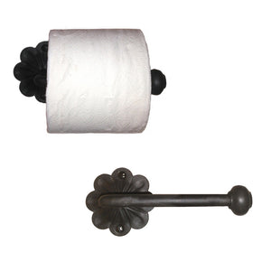 Marietta Wrought Iron Toilet Paper Holder, Reversible