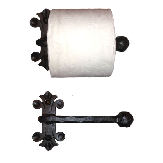 Eagle Mountain Wrought Iron Toilet Paper Holder, Reversible