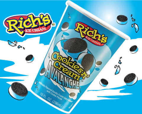 RICH'S Cup Cookies n' Cream Avalanche (12 Count)