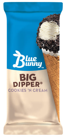 Blue Bunny Big Dipper Cookies N' Cream Cone 24ct.