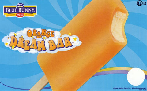Blue Bunny Orange Cream Bar 24ct.