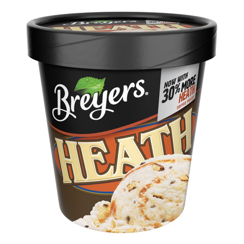 Breyers, Heath English Toffee Ice Cream, Pint (8 Count)
