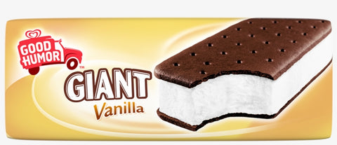 Good Humor, Giant Ice Cream Sandwich, Vanilla, 6.0 Oz. (24 Count)