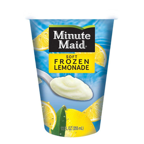 Minute Maid Soft Frozen Lemon Lemonade Cup, 12 Ounce -- 12 per case.