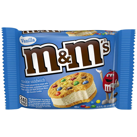 M&M'S Ice Cream Cookie Sandwich 4 fl. oz (24 Count)
