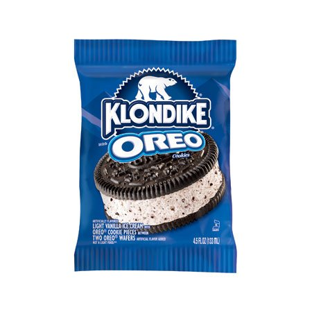 Klondike, King Size Oreo Ice Cream Cookie Sandwich, 4.5 Oz. (24 Count)