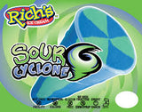 RICH'S SOUR Cyclone Blue Raspberry Screwball 3.75floz (24 Count)