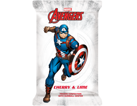 Avengers Captain America Ice Cream Bar Shield 4floz (12 Count)