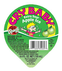 CryBaby Cups Sour Apple 12 Count (6oz cups)