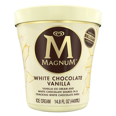 MAGNUM White Chocolate Vanilla Ice Cream, 14.8 oz. Tub (6 count)