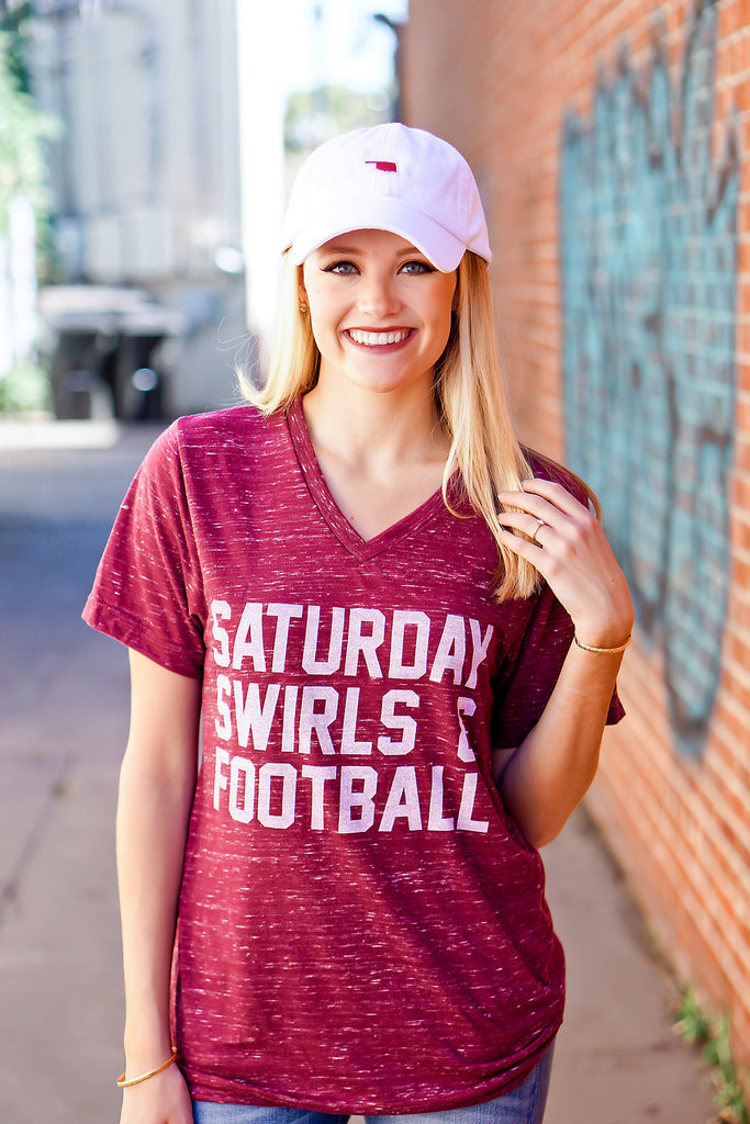 Saturday Swirls Football T Shirt
