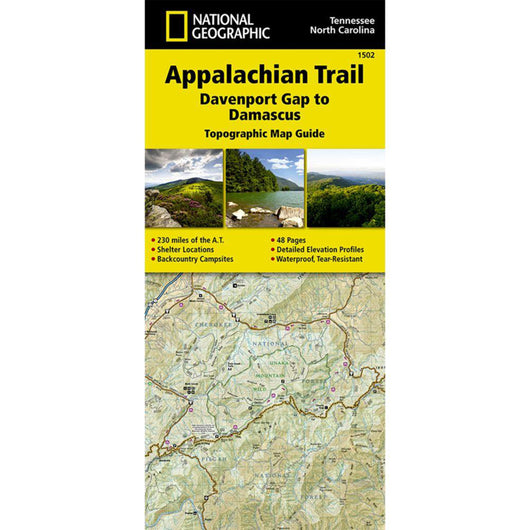Appalachian Trail, Davenport Gap to Damascus Trail Map