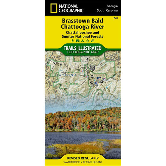 Brasstown Bald/Chattooga River, Chattahoochee and Sumter National Forests Trail Map