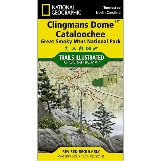 Clingmans Dome, Cataloochee: Great Smoky Mountains National Park Trail Map