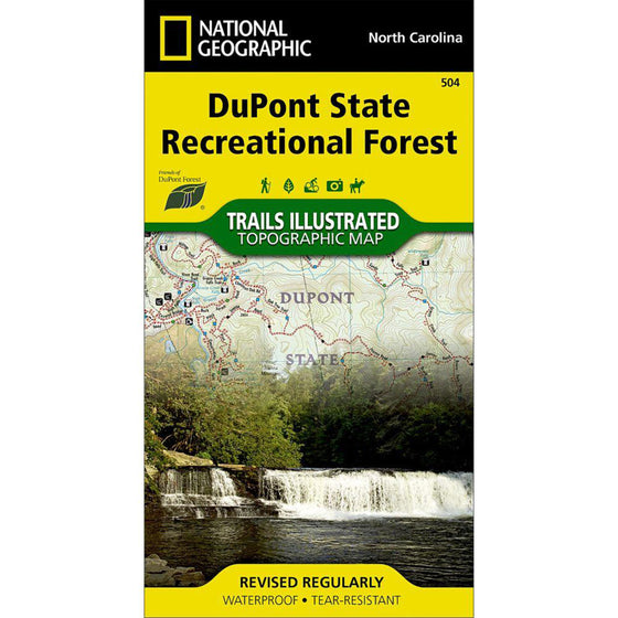 DuPont State Recreational Forest Trail Map
