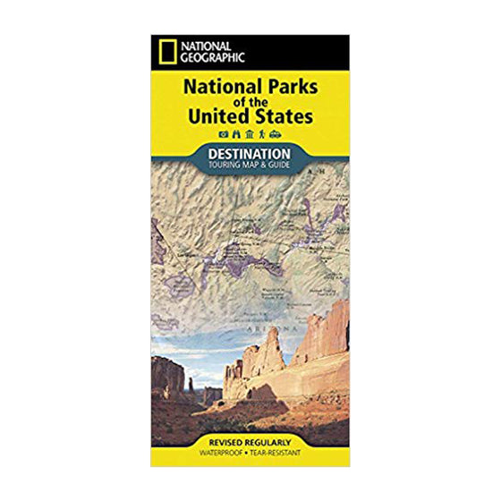 National Parks of the United States Touring Map and Guide