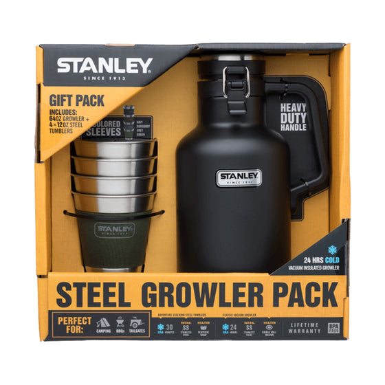 Classic Vacuum Growler + Adventure Stacking Steel Tumblers Set