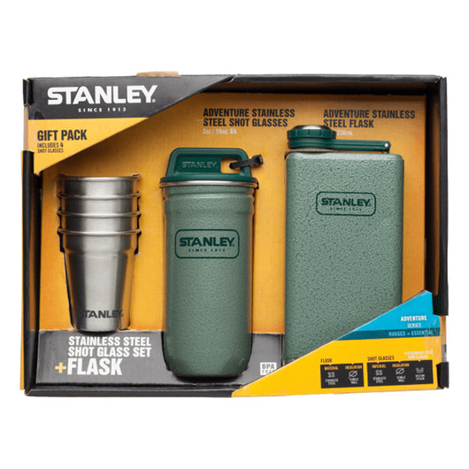 Adventure Steel Shots + Flask Gift Set