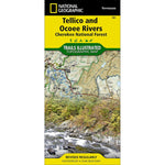 Tellico and Ocoee Rivers, Cherokee National Forest Trail Map