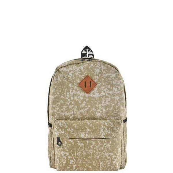 Beige Acid Wash Backpack - Savage Garb