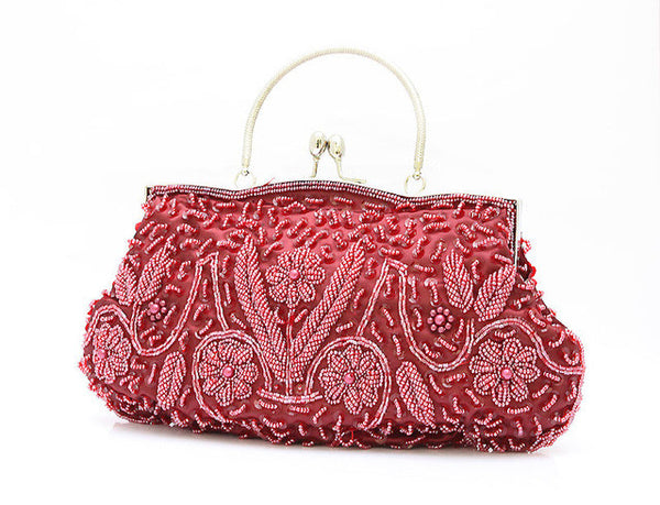 Beaded Satin Women's Evening Bag 11 Colors - Savage Garb