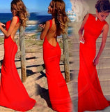 Sexy Backless Long Dress 3 Colors - Savage Garb